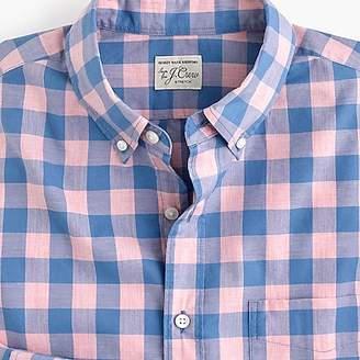 J.Crew Slim stretch Secret Wash shirt in heather peony gingham