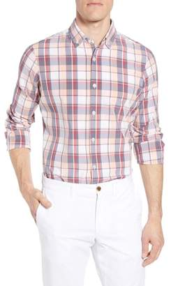 Mizzen+Main Brazos Slim Fit Madras Plaid Performance Sport Shirt