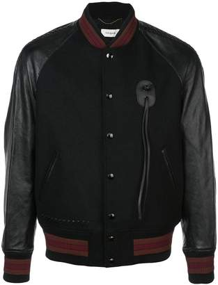Coach leather sleeve souvenir jacket