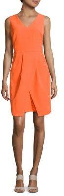 Solid V-Neck Dress $130 thestylecure.com