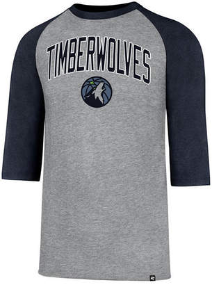 '47 Men's Minnesota Timberwolves Zone Raglan Three-Quarter Sleeve T-Shirt