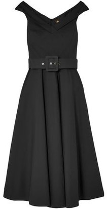 Michael Kors Belted Stretch-Cotton Midi Dress