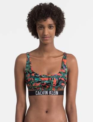 Calvin Klein intense power logo printed bralette