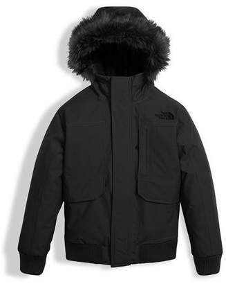 The North Face Gotham Down Hooded Jacket w/ Faux-Fur Trim, Black, Size XXS-XL