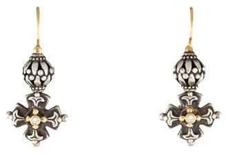 Konstantino Diamond Classics Maltese Cross Drop Earrings