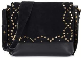 Isabel Marant Asli Zoe Suede And Leather Shoulder Bag