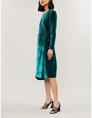 KITRI Maya velvet wrap dress