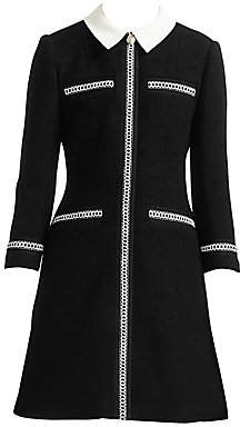 Maje Women's Renali Braided-Trim Dress