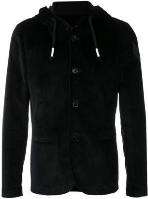 Daniele Alessandrini corduroy hooded jacket