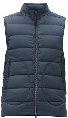 Herno Legend Quilted Down Gilet - Mens - Navy