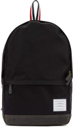 Thom Browne Black Unstructured Nylon Backpack