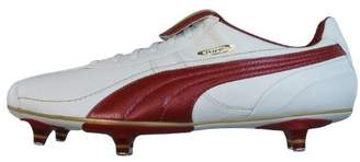 Puma King XL SG Mens Leather soccer Boots/Cleats - White & Red - SIZE US
