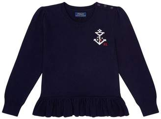 Polo Ralph Lauren Anchor Peplum Sweater