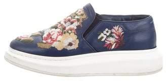Alexander McQueen Embroidered Platform Slip-On Sneakers