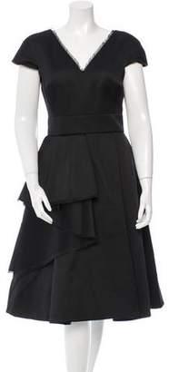 Jason Wu Cap Sleeve Midi Dress