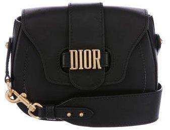 Christian Dior 2017 Leather D-Fence Saddle Bag