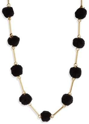 Madewell Gold-Tone Pompom Necklace