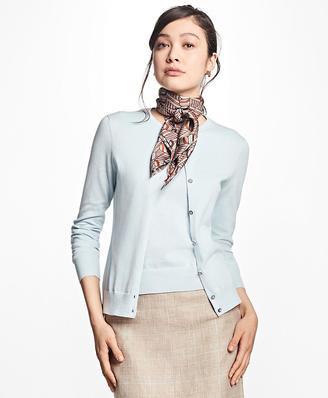 Lightweight Supima® Cotton Cardigan $98 thestylecure.com