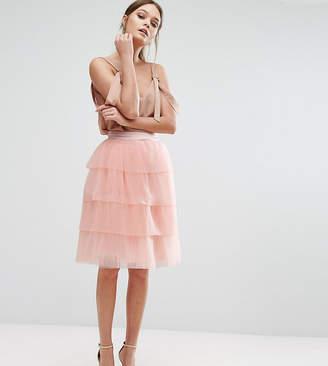 True Decadence Tiered Tulle Mini Skirt