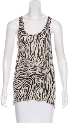 Theory Zebra Print Sleeveless Top