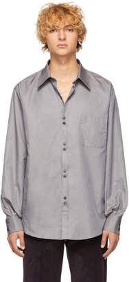 Cobra S.C. Grey Silk Double Button Shirt