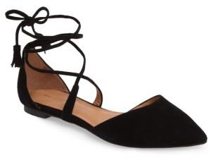 Women's Halogen Oliver Ankle Wrap Flat $89.95 thestylecure.com