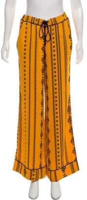 House Of Harlow Printed High-Rise Pants