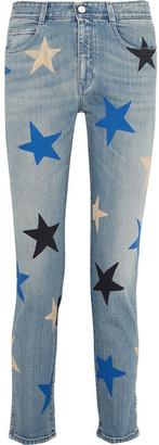 Stella McCartney - Printed Mid-rise Straight-leg Jeans - Blue $495 thestylecure.com