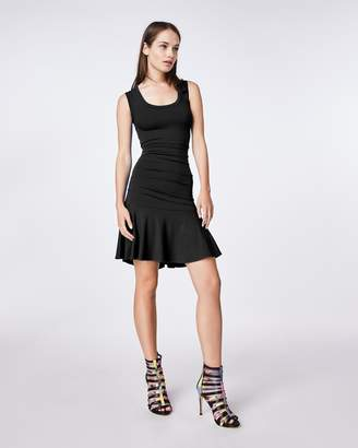 Nicole Miller Jersey Tidal Pleat Flare Dress