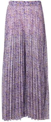 Blumarine floral pleated maxi skirt