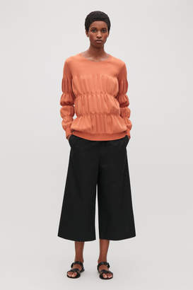 Cos LONG-SLEEVE RIB-STITCHED TOP