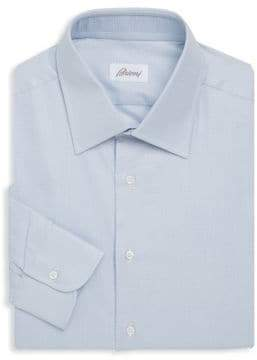 Brioni Spread Collar Cotton Shirt