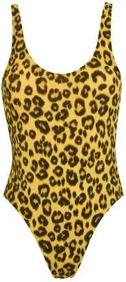 Les Girls Les Boys Lowback Leopard Swimsuit