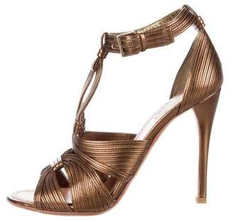 Alaia Metallic Cage Sandals
