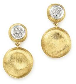 Marco Bicego 18K White & Yellow Gold Diamond Pavé Jaipur Link Drop Earrings - 100% Exclusive