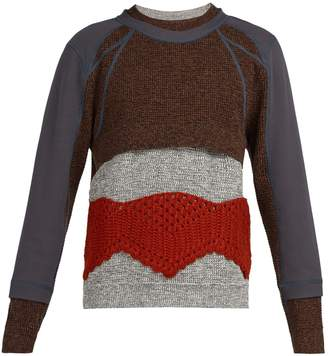 Craig Green Panelled crochet-knit sweater