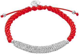 NCAA Kohl's Ohio State Buckeyes Crystal Sterling Silver Bar Link & Team Logo Charm Slipknot Bracelet