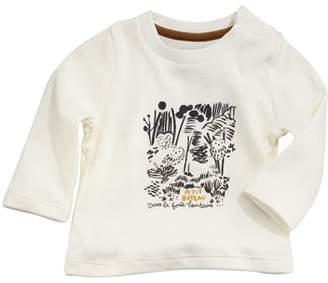 Petit Bateau Tarama Long-Sleeve Owl Tee, Baby Boy Size 3-36 Months