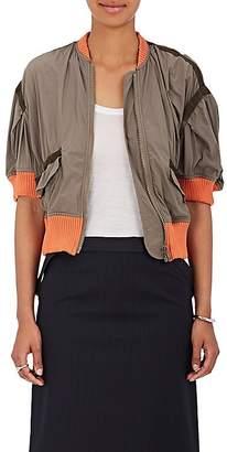 Kolor Women's Washed Nylon Crop Bomber Jacket