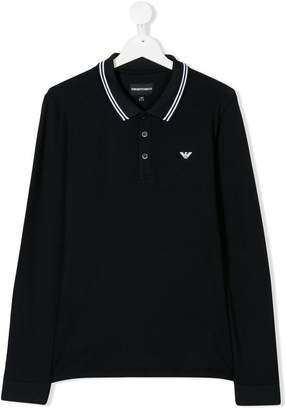 Emporio Armani Kids TEEN long-sleeve polo shirt