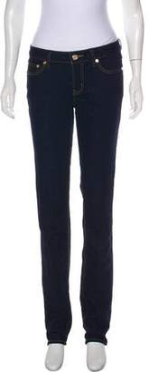 Tory Burch Distressed Low-Rise Straight-Leg Jeans