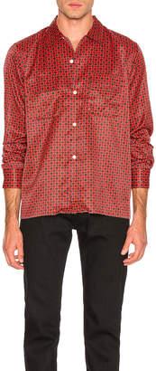 Needles Cut-Off Bottom Classic Shirt in Red   FWRD