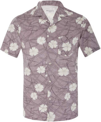 Officine Generale Dario Printed Cotton-Jersey Button-Up Shirt