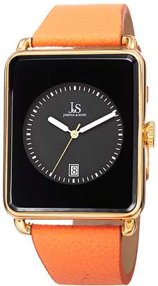Joshua & Sons Men's Alloy & Leather Watch, 38mm