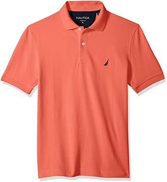 Nautica Men's Classic Short Sleeve Solid Cotton Pique Polo Shirt