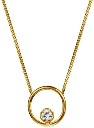 Lee Renee Halo Necklace White Sapphire & Gold Vermeil