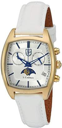 S. Coifman Women's 'Lady' Swiss Quartz Stainless Steel and Leather Watch