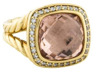 David Yurman Morganite & Diamond Albion Ring
