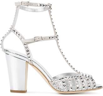 Giuseppe Zanotti Design Silver Crystal Angie 85 sandals