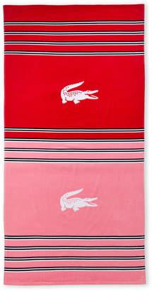Lacoste Pink Heritage Beach Towel